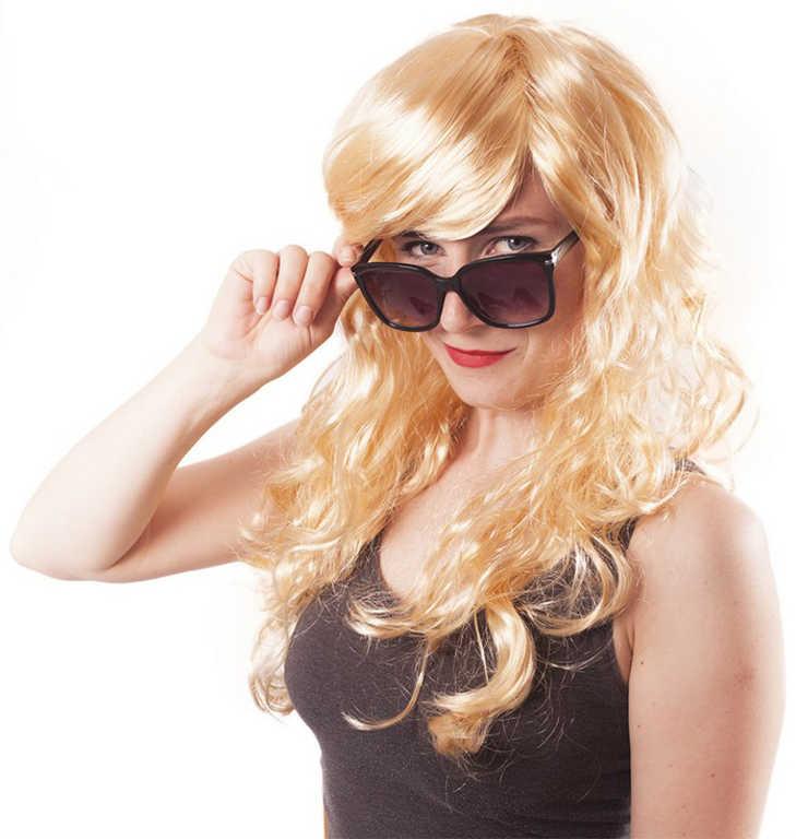 KARNEVAL Paruka blond dospělá *KARNEVALOVÝ DOPLNĚK*
