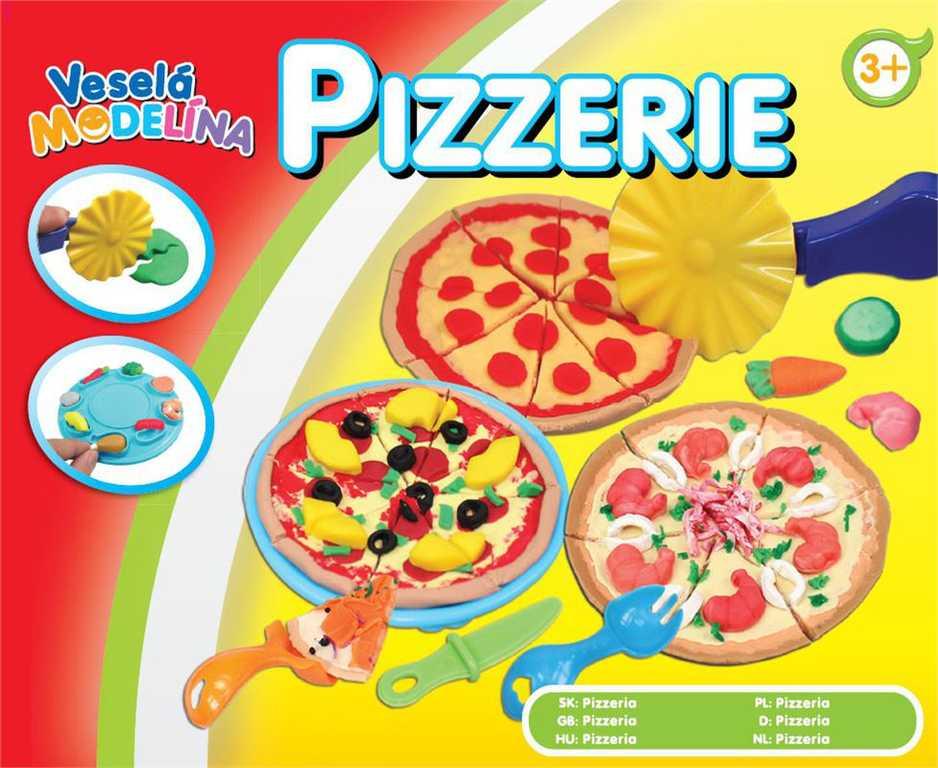 MAC TOYS Modelína veselá Pizzerie kreativní set výroba pizzy