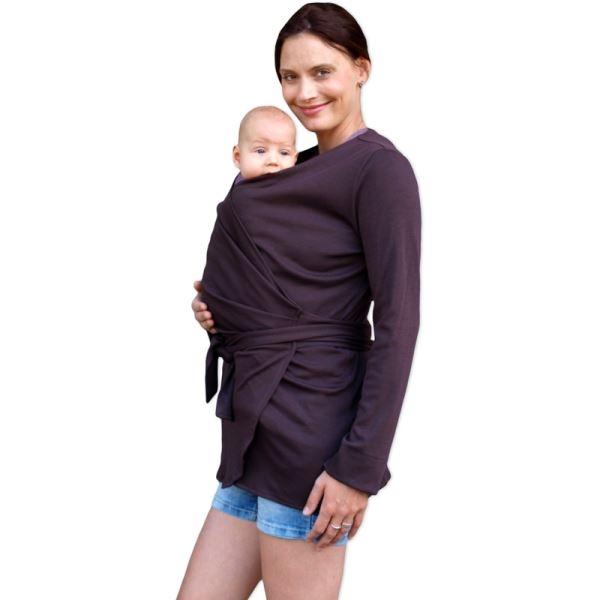 Zavinovací kabátek pro nosící, těhotné - biobavlněný