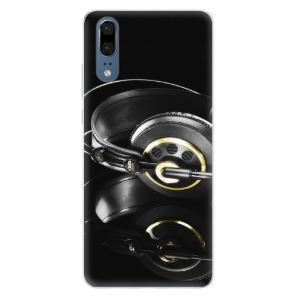 Silikonové pouzdro iSaprio - Headphones 02 - Huawei P20
