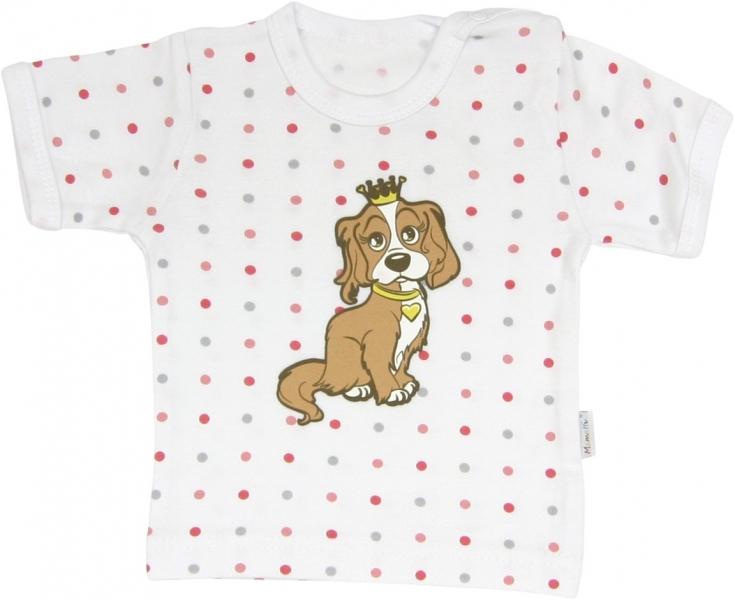 Bavlněné tričko Pejsek - krátký rukáv, roz.