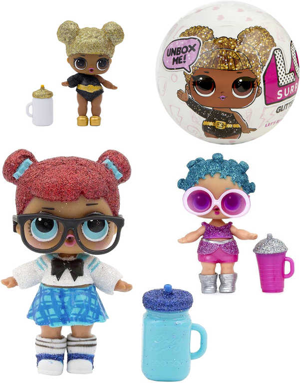 L.O.L. Surprise Glitter třpytková panenka s doplňky v kouli 7 překvapení