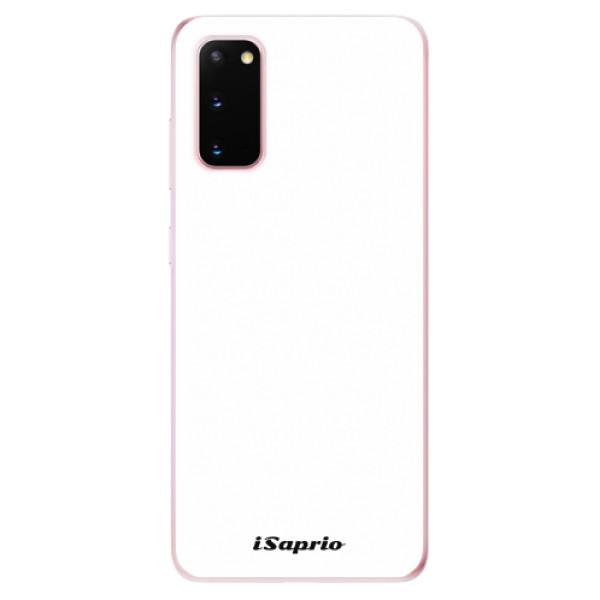 Odolné silikonové pouzdro iSaprio - 4Pure - bílý - Samsung Galaxy S20