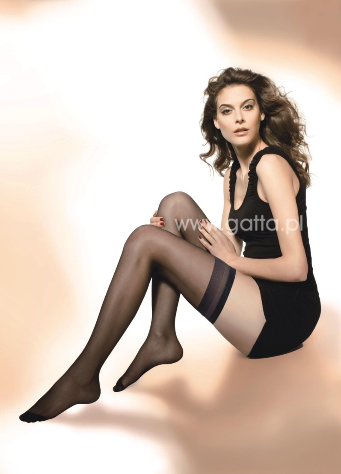 Dámské samodržící punčochy Gatta Jilly Stretch A'2