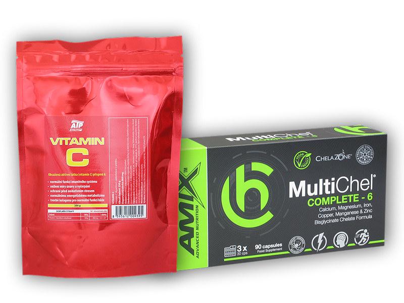 MultiChel Complete 6 90 Vcps + Vit C 250