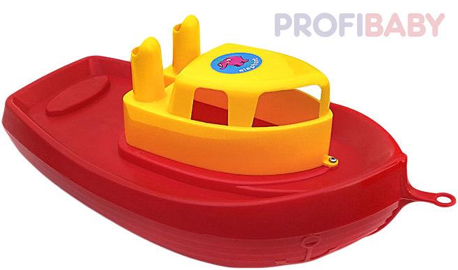 PROFIBABY Baby lodička velká 40cm do vody červená do vany pro miminko plast
