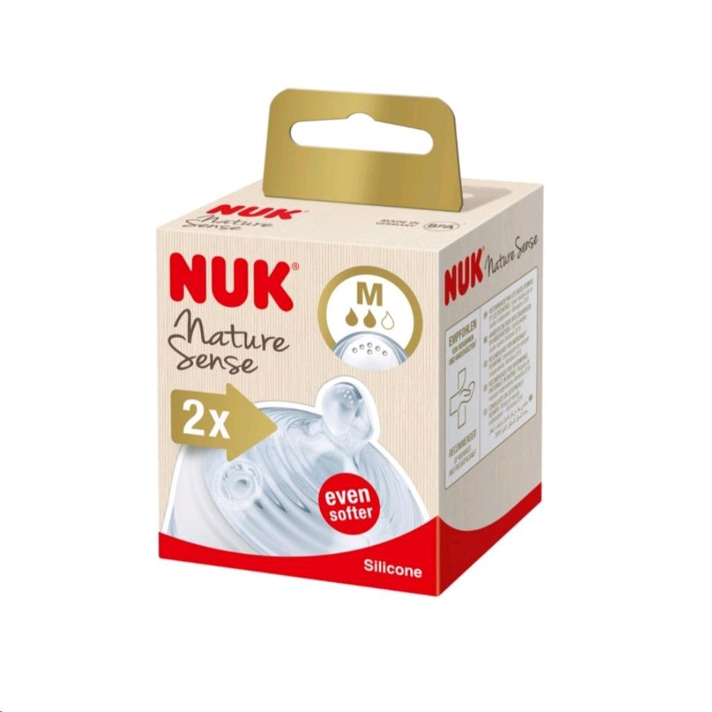 Savička Nature Sense Nuk M - 2 ks - transparentní