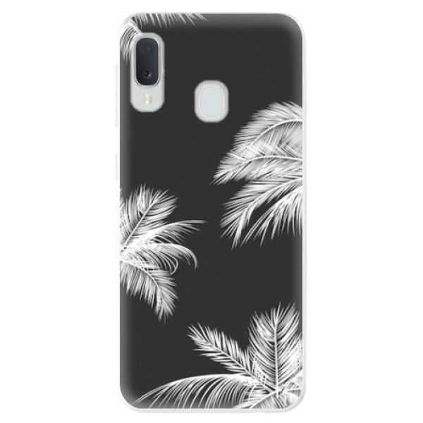 Odolné silikonové pouzdro iSaprio - White Palm - Samsung Galaxy A20e