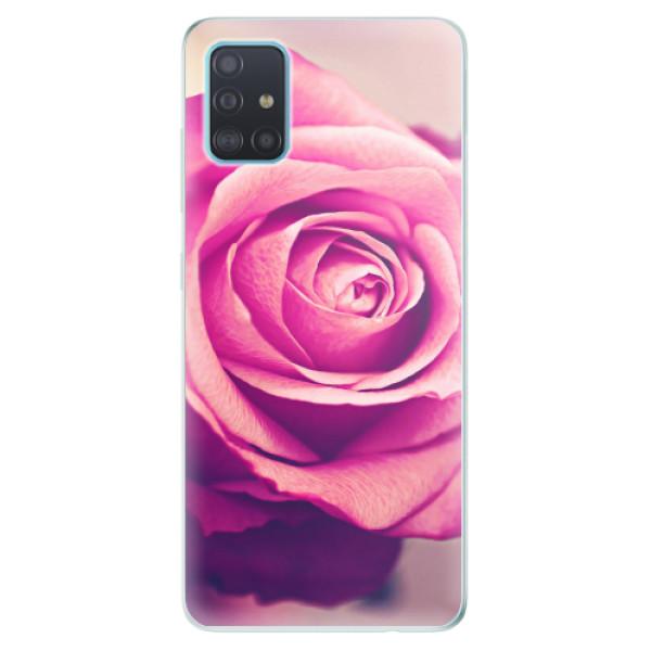 Odolné silikonové pouzdro iSaprio - Pink Rose - Samsung Galaxy A51