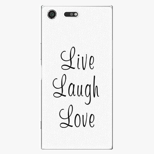 Plastový kryt iSaprio - Live Laugh Love - Sony Xperia XZ Premium