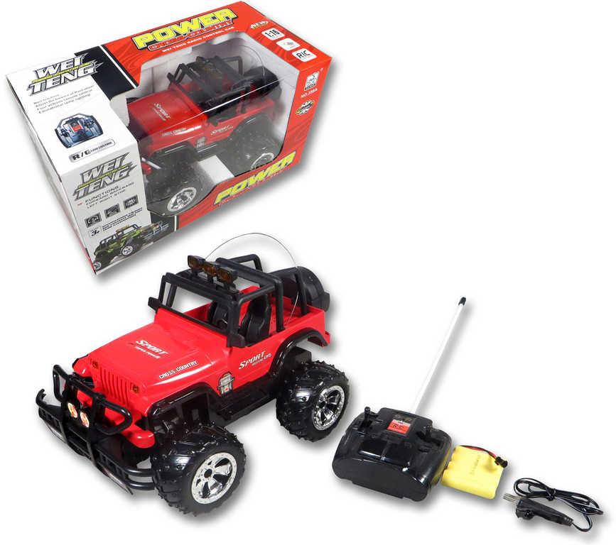 RC Auto Jeep na baterie 25cm 1:16 na dálkové ovládání 27MHz Světlo 2 barvy