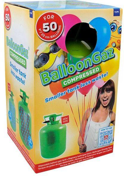 BalloonGaz Helium 400l jednorázové na plnění až 50ks latexových balónků 23cm