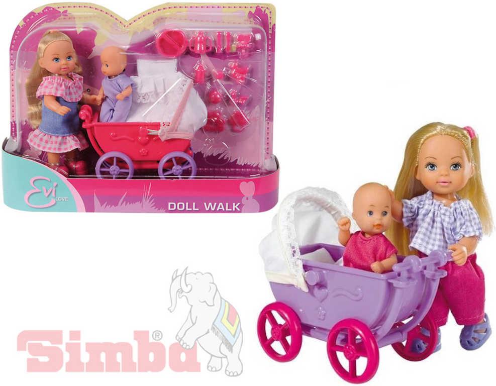 SIMBA Evička panenka set s kočárkem a doplňky - 2 druhy