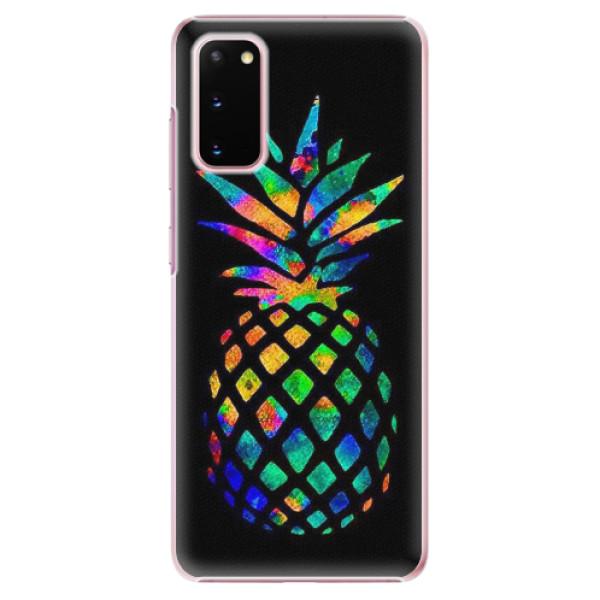 Plastové pouzdro iSaprio - Rainbow Pineapple - Samsung Galaxy S20