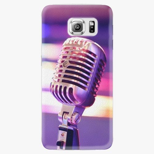 Plastový kryt iSaprio - Vintage Microphone - Samsung Galaxy S6 Edge