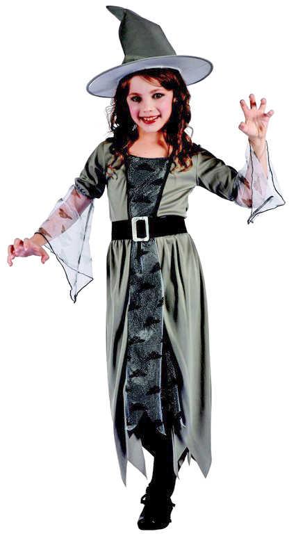 KARNEVAL Šaty Čarodějka vel.M (120-130 cm) 5-9 let KOSTÝM
