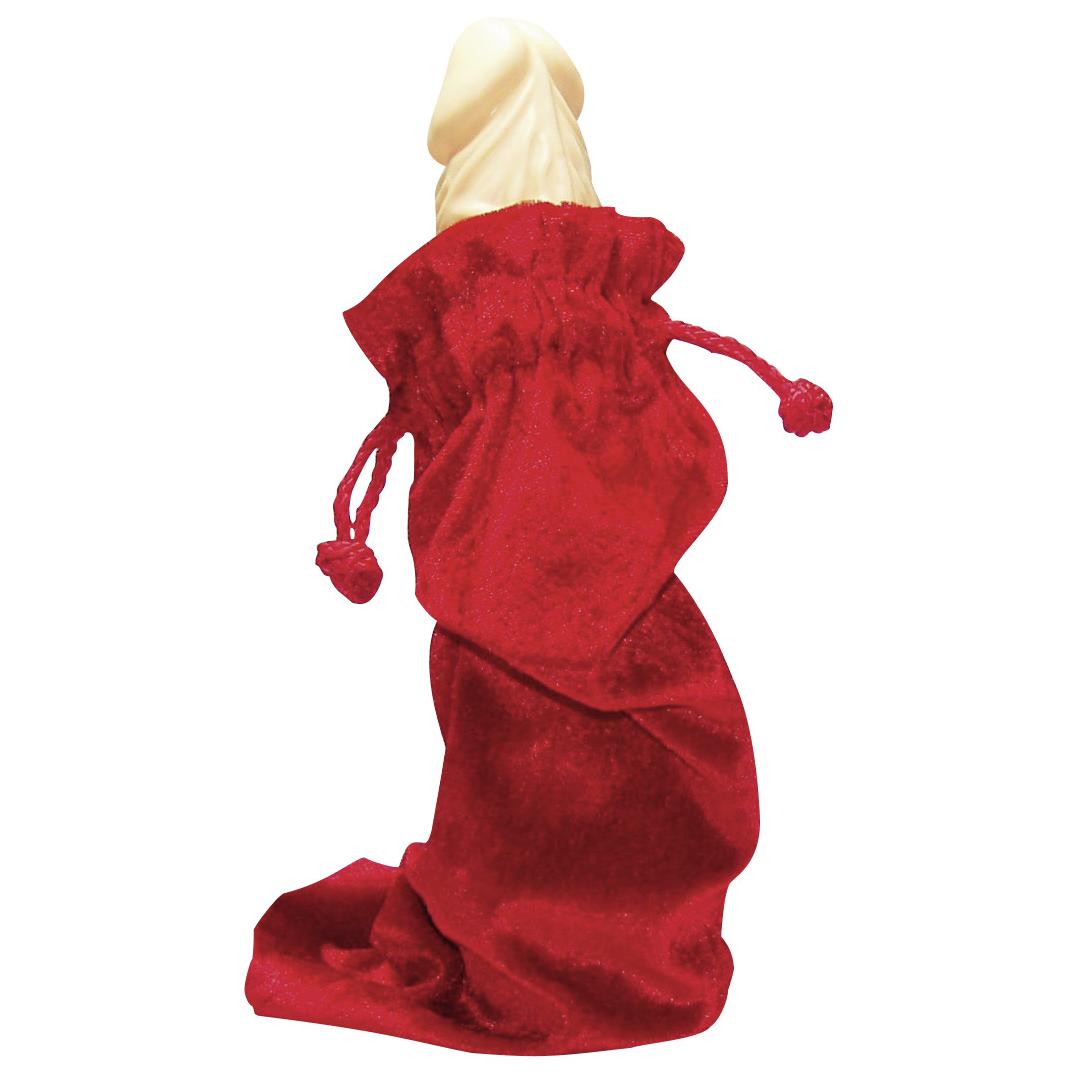 Červený saténový sáček na vibrátor
