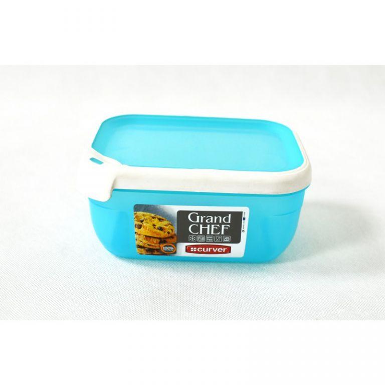 Plastová dóza GRAND CHEF dóza - 1,8 l obdélník - tyrkysová modrá CURVER