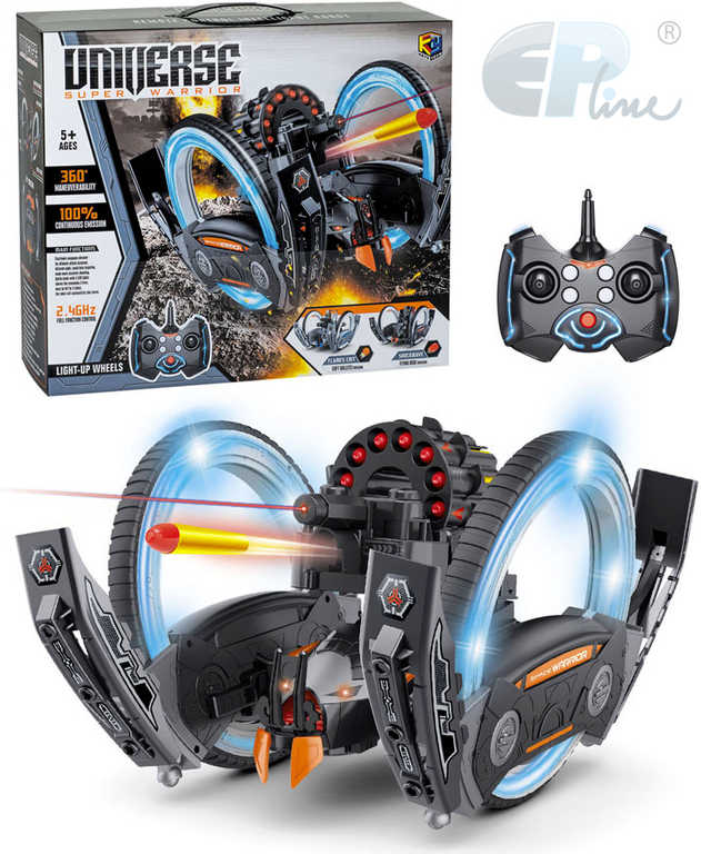 EP line RC Bitevní robot auto obojživelné na dálkové ovládání na baterie 2,4GHz Světlo