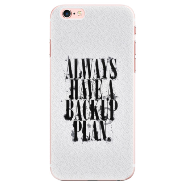 Plastové pouzdro iSaprio - Backup Plan - iPhone 6 Plus/6S Plus