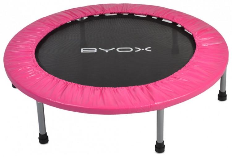Byox Dětská skákací trampolína 114 cm - růžová