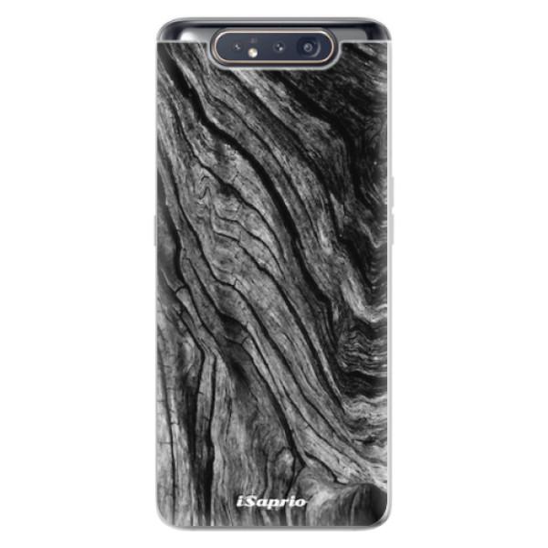 Odolné silikonové pouzdro iSaprio - Burned Wood - Samsung Galaxy A80