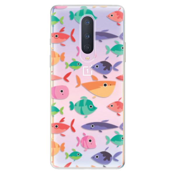 Odolné silikonové pouzdro iSaprio - Fish pattern 01 - OnePlus 8