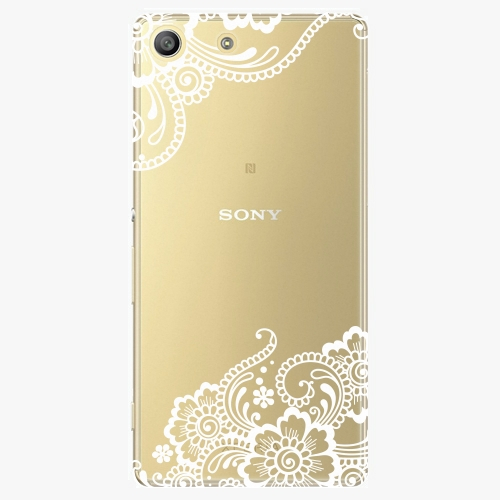 Plastový kryt iSaprio - White Lace 02 - Sony Xperia M5