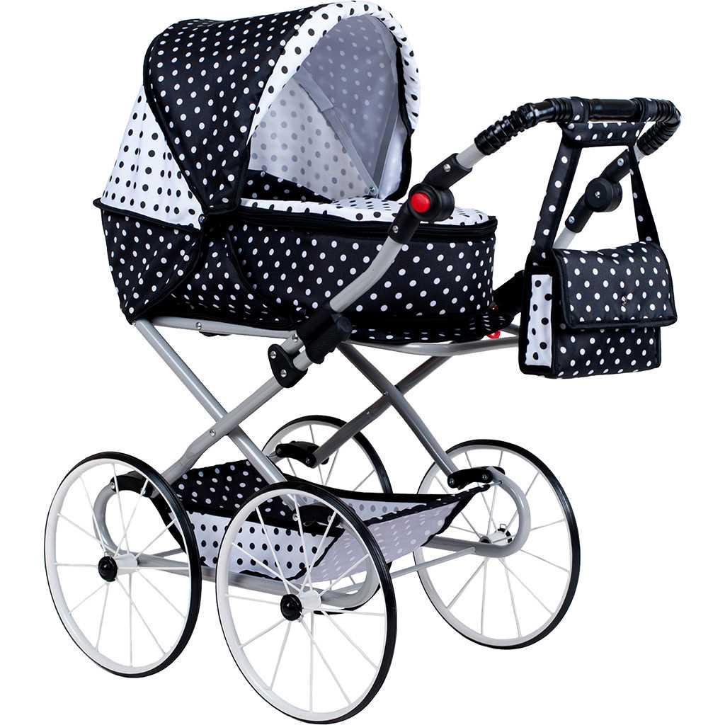 Dětský Retro kočárek pro panenky 2v1 New Baby