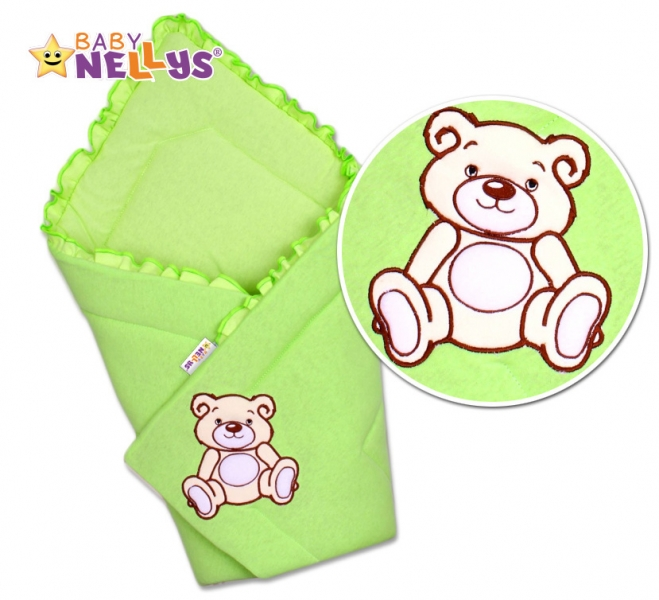 Zavinovačka Teddy Bear - velur - zelená