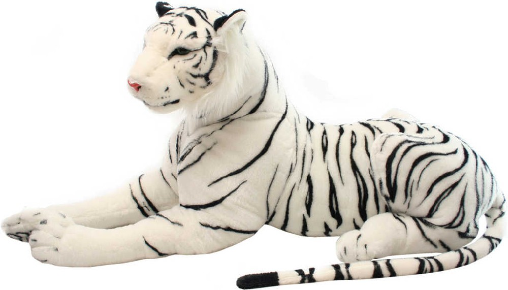 PLYŠ Tygr bílý ležící 100cm *PLYŠOVÉ HRAČKY*