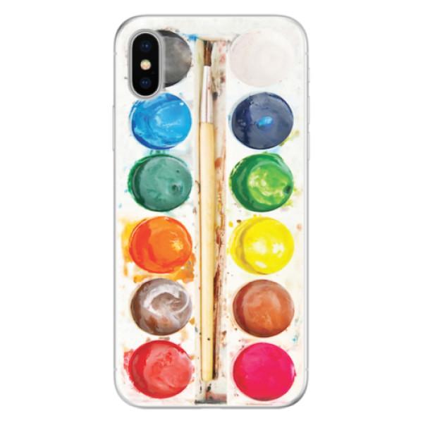 Silikonové pouzdro iSaprio - Watercolors - iPhone X