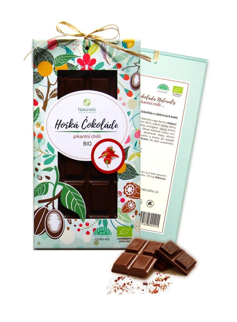 BIO Čokoláda Naturalis s chilli - 80g