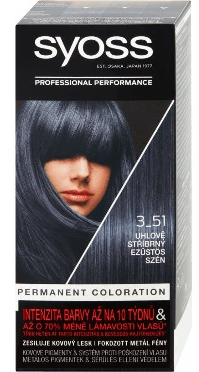 Syoss Color 3-51 Uhlově stříbrný 50ml