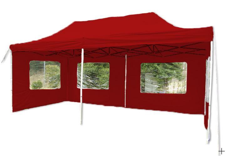Zahradní  párty přístřešek 3 x 6 PROFI - nůžkový - červený