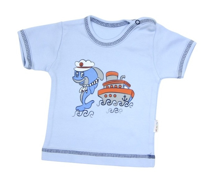 Tričko/košilka krátký rukáv Mamatti - Delfín - 92 (18-24m)