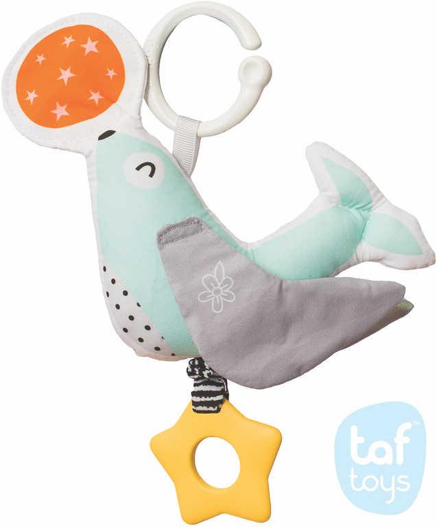 TAF TOYS Baby textilní tuleň Star chrastící závěsný kousátko pro miminko