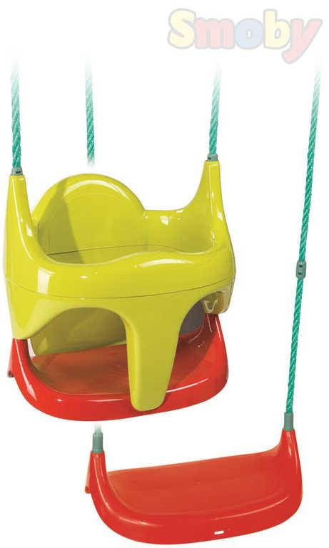SMOBY Baby houpačka 2v1 hluboká skořepina / prkénko pro miminko plast