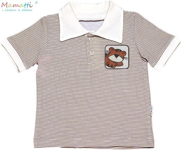 Polo tričko kr.rukáv Mamatti - Lvíček - 86 (12-18m)