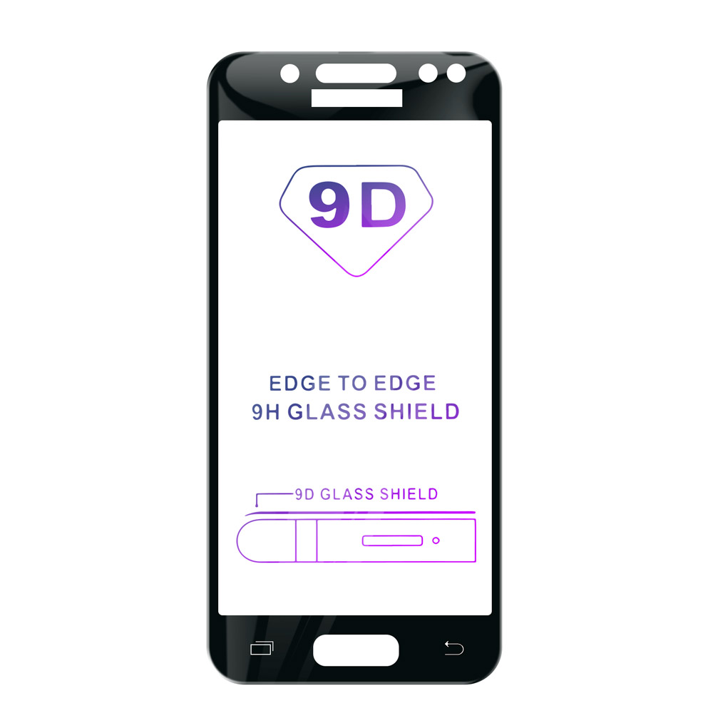 Tvrzené sklo iSaprio 9D BLACK pro Samsung Galaxy J5 2017