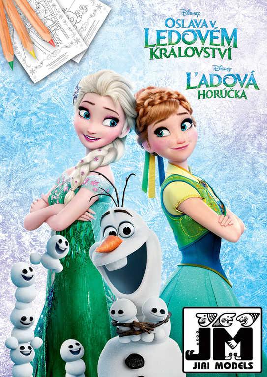 JIRI MODELS Omalovánky A4 Disney Oslava v Ledovém Království (Frozen)