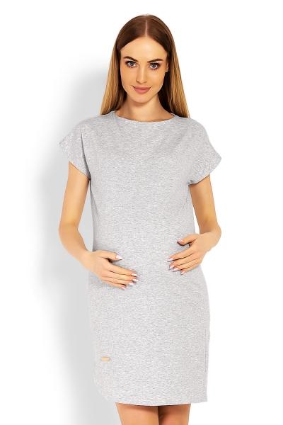 Těhotenské asymetrické šaty, kr. rukáv
