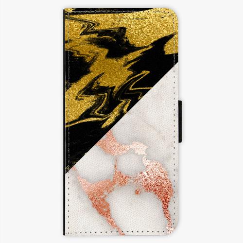 Flipové pouzdro iSaprio - Shining Marble - Nokia 5