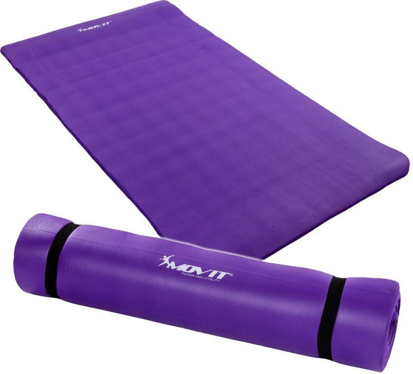 Podložka na jógu MOVIT 190 x 100 x 1,5 cm fialová