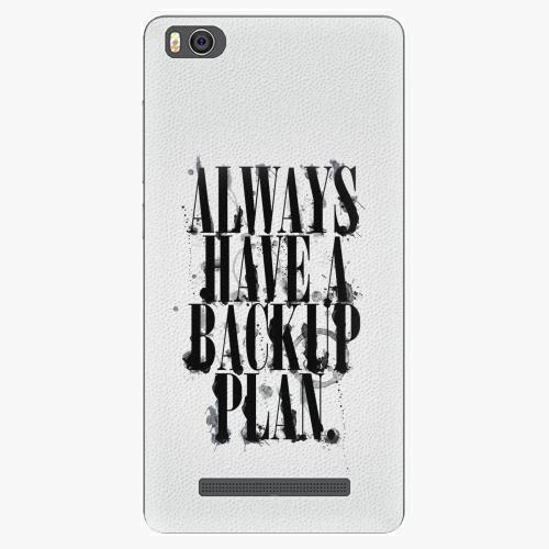 Plastový kryt iSaprio - Backup Plan - Xiaomi Mi4C