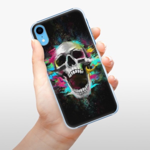 Plastové pouzdro iSaprio - Skull in Colors - iPhone XR