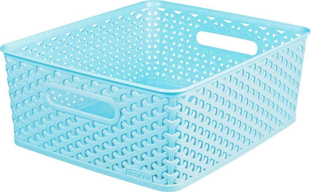 Košíček box - M - modrý CURVER