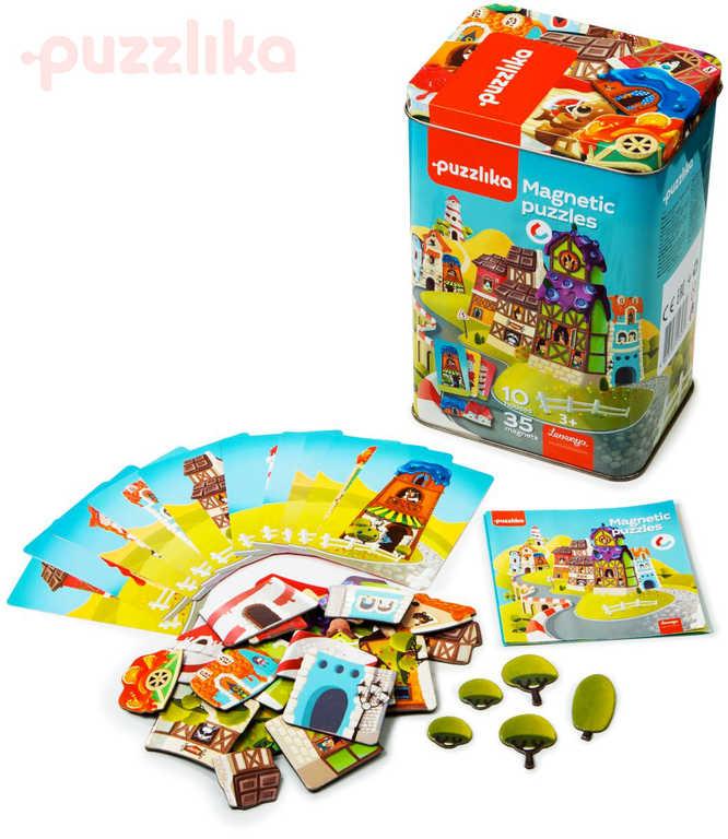 PUZZLIKA Baby puzzle magnetická skládačka Domeček set 35 dílků + 10 předloh