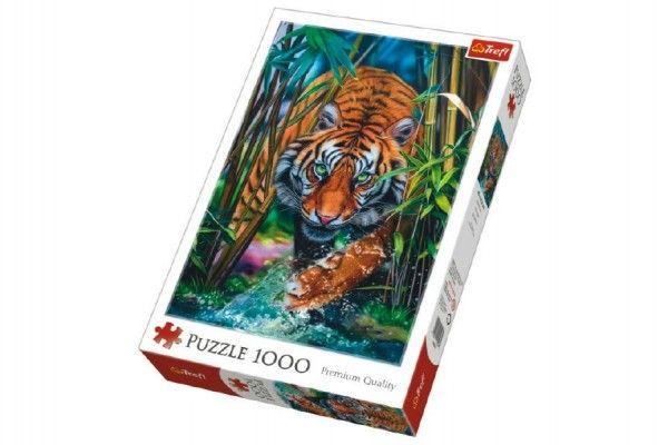 Puzzle Dravý Tygr 1000 dílků 48x68cm v krabici 40x27x6cm