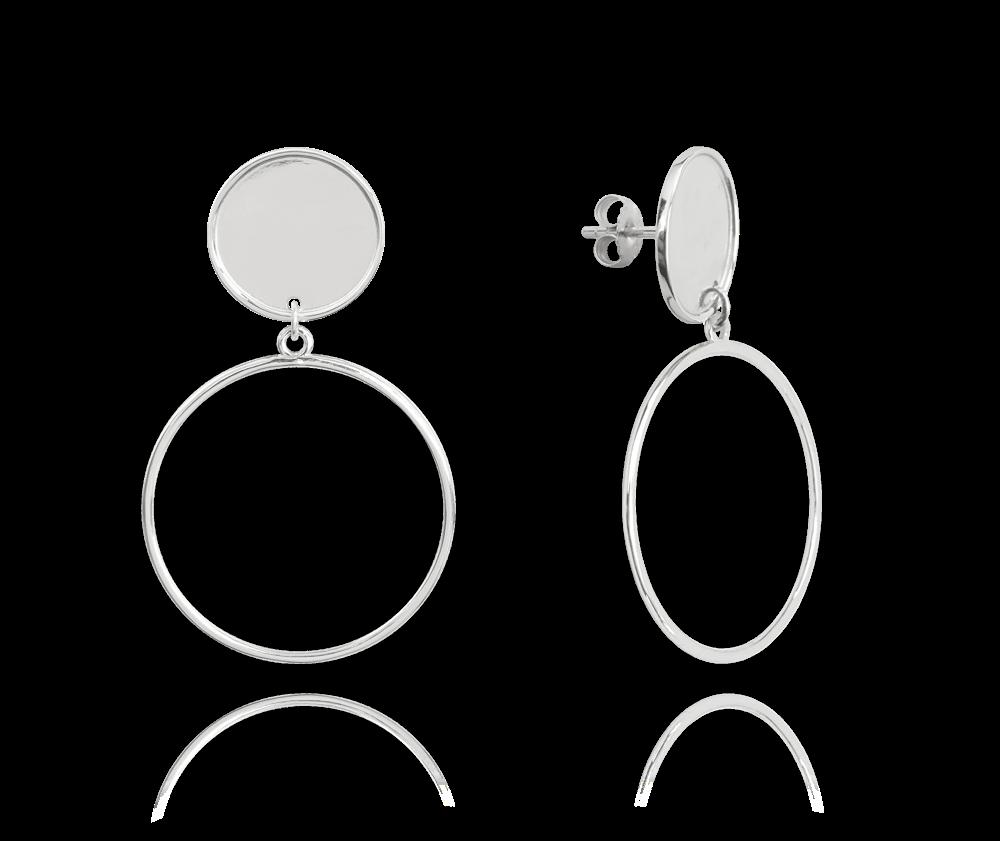 Stříbrné kruhové náušnice